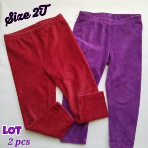 Lot 2 pcs suede comfy pants toddler girl Size 2T